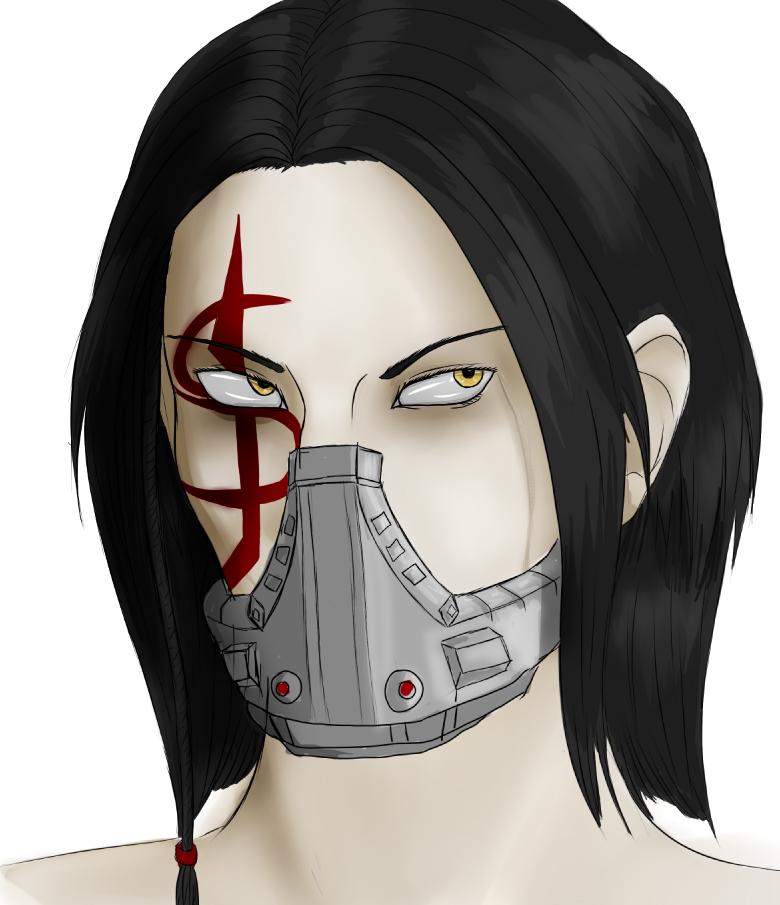 Masked headshot by Shayochism