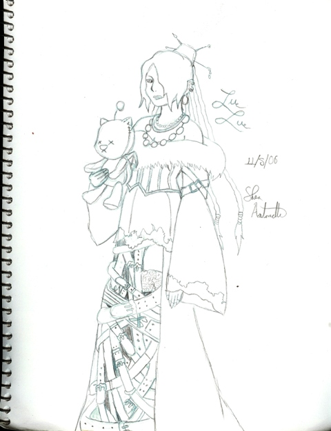 Lulu and an EVIL Moogle of DOOOM (redundancy!!!) by Shearay752
