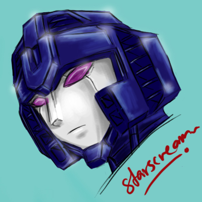 GF Starscream's Head by ShiroiNeko1989