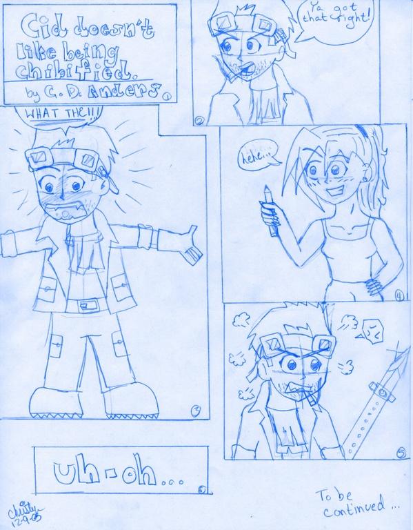 Cid no likey Chibi! *comic* by Shiv_Freak