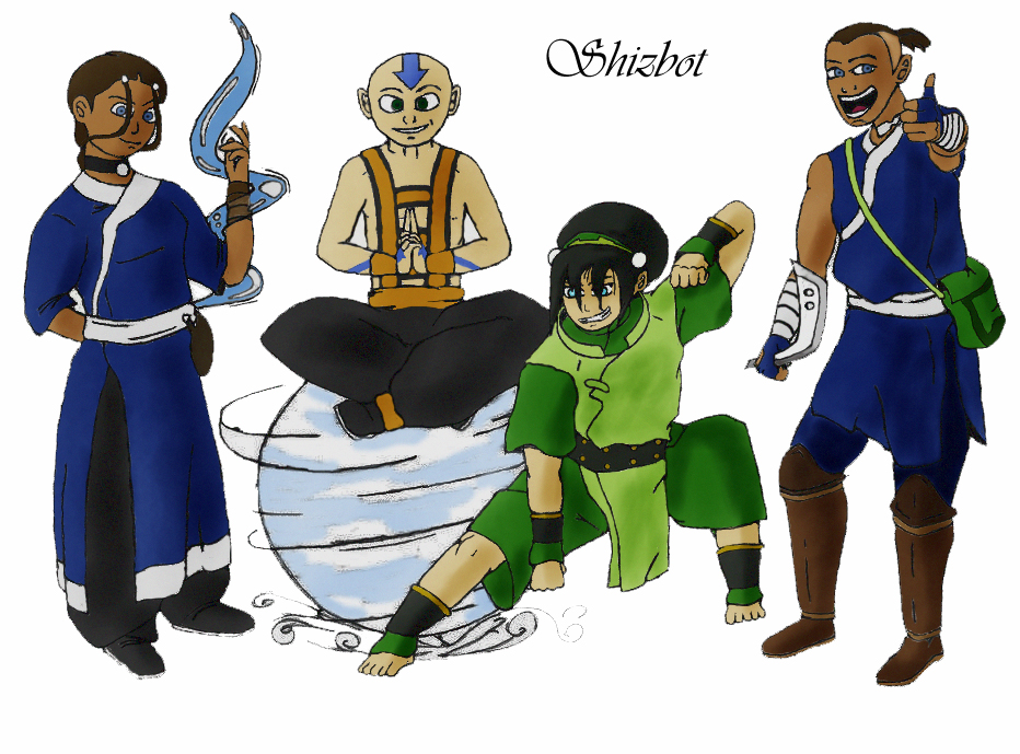 Avatar Gang(colored) by Shizbot2099