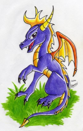 Spyro the Dragon by Siatea