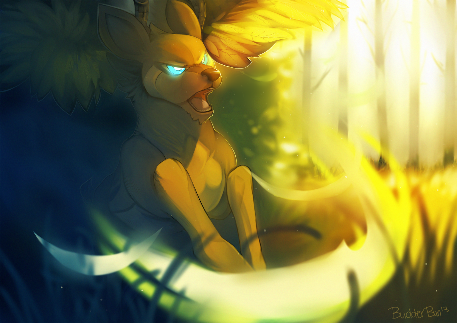 Sawsbuck by Silver_Moon
