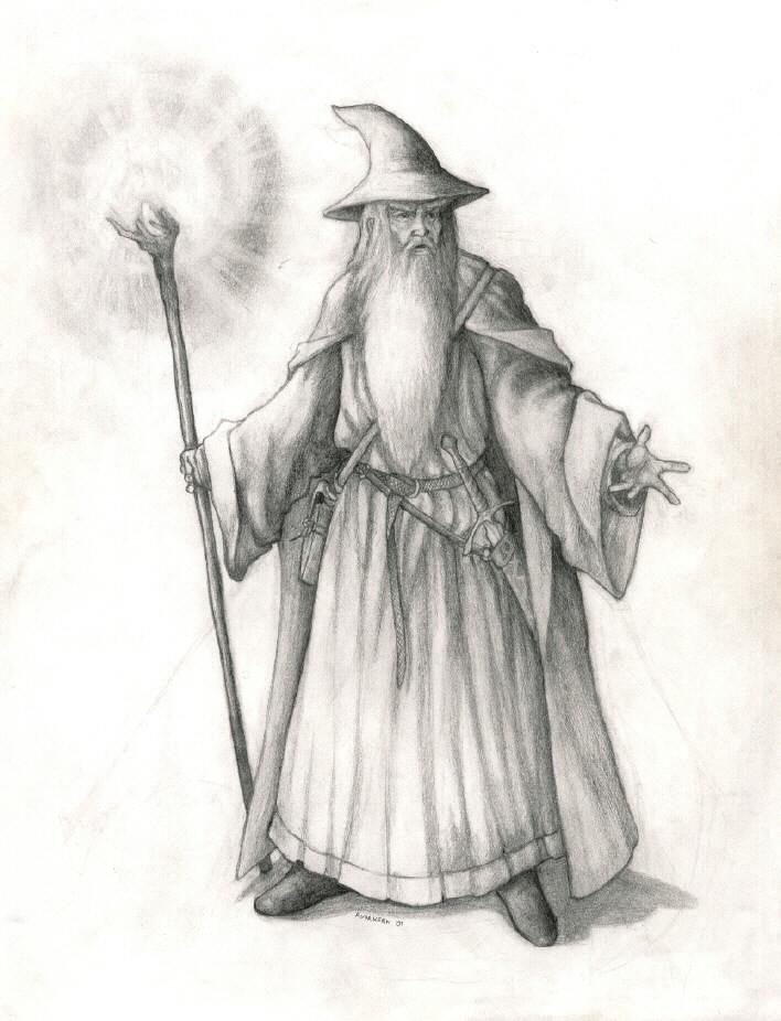 Gandalf the Grey by Sir_Dragonairic