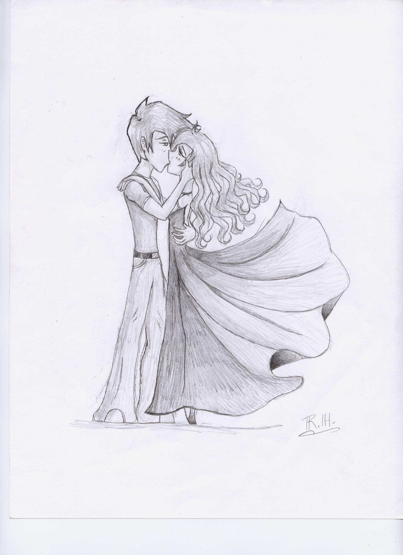 Marina and Hayden kissing by Sirengina