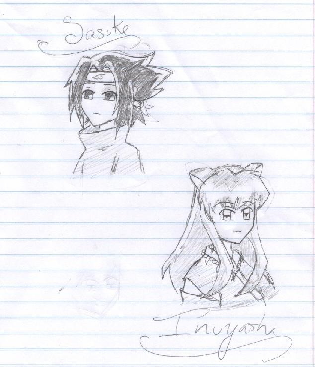 Sasuke and Inuyasha chibis by Sirengina