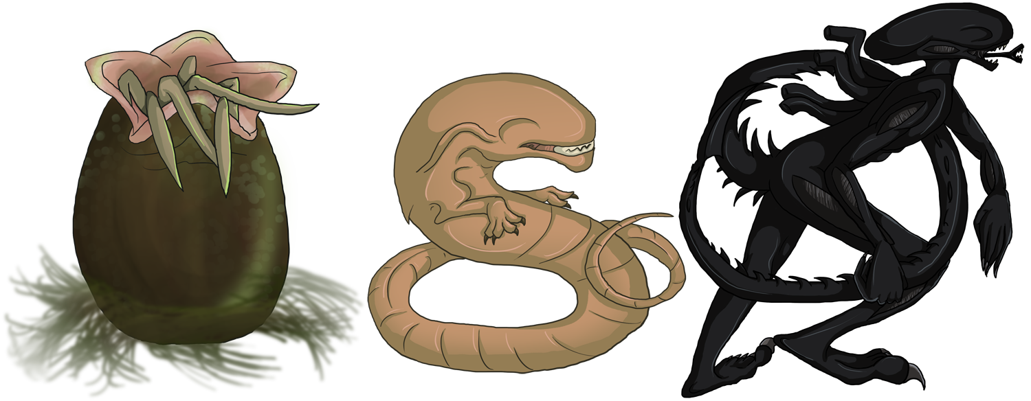 Xenomorph Squibies by SkyThing