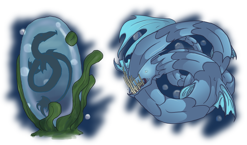 Deep Sea Serpent Squiby by SkyThing