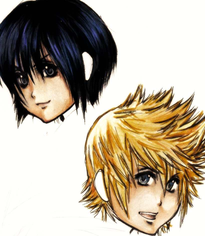 Xion and Roxas by Skyloft