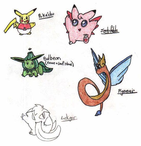 Mixed-up Pokemon by SleepyShippo