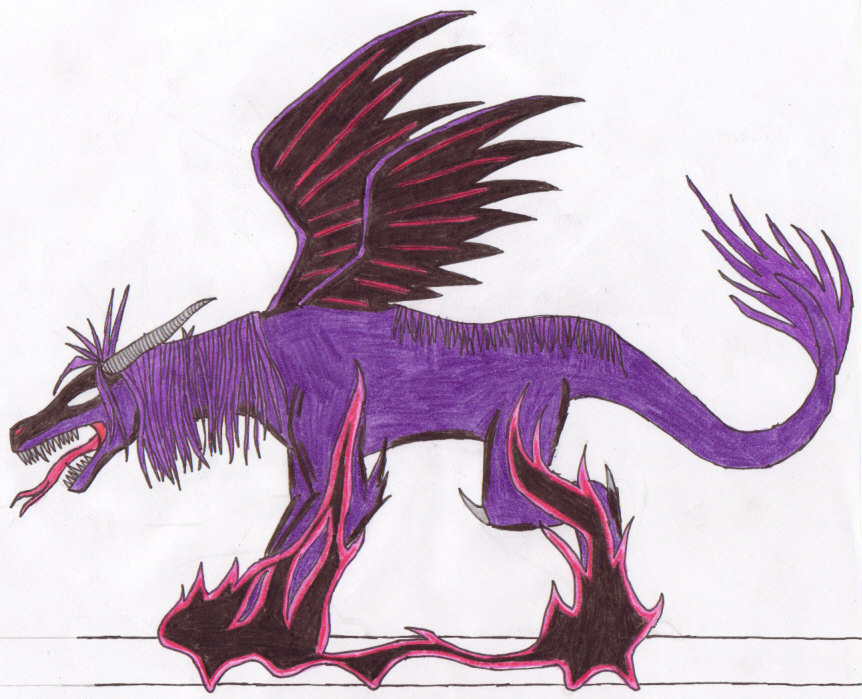 Purple Dragon by Slifer_Girl_2308