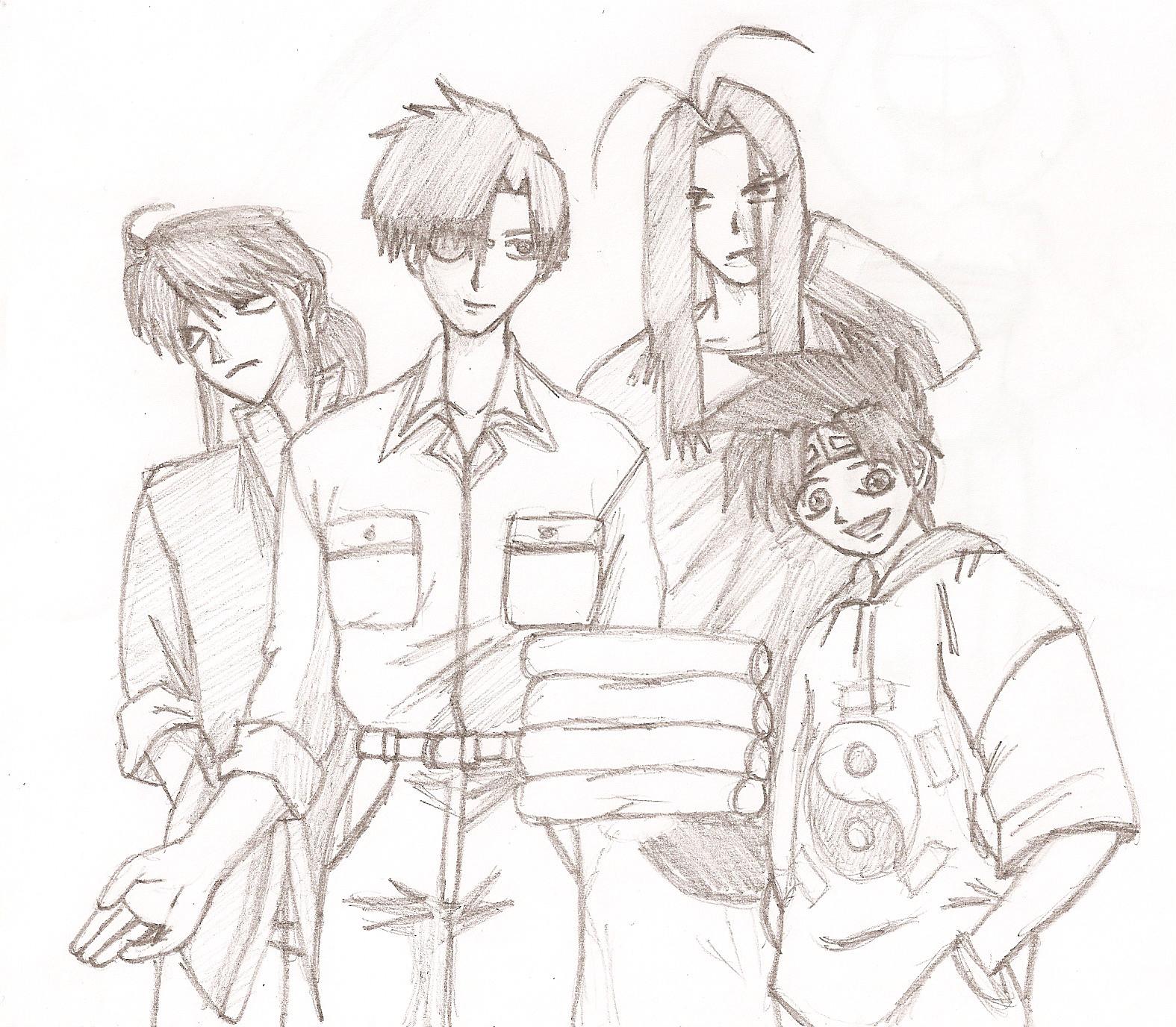Saiyuki Main Guys by Slifer_Girl_2308