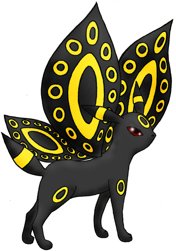 Winged Umbreon by Sliv