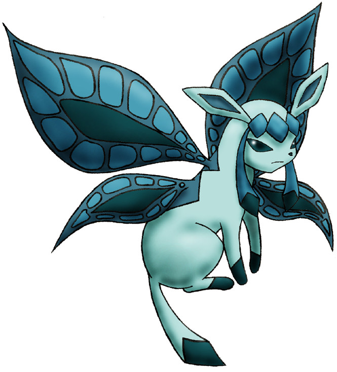 Winged Glaceon by Sliv