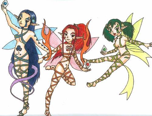 Triforce Goddesses by Sliv