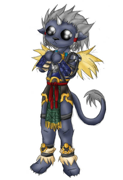 Chibi Kimahri. (The cute-ness BLINDS!) by Snake_Eyes