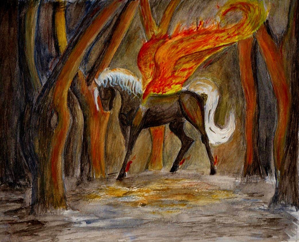 Halloween-Fire Pegasus by SofeSmity