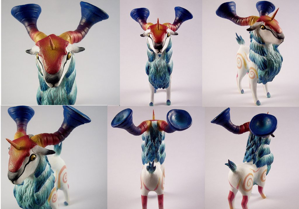 Yoggy Ram Sculpture by SofeSmity
