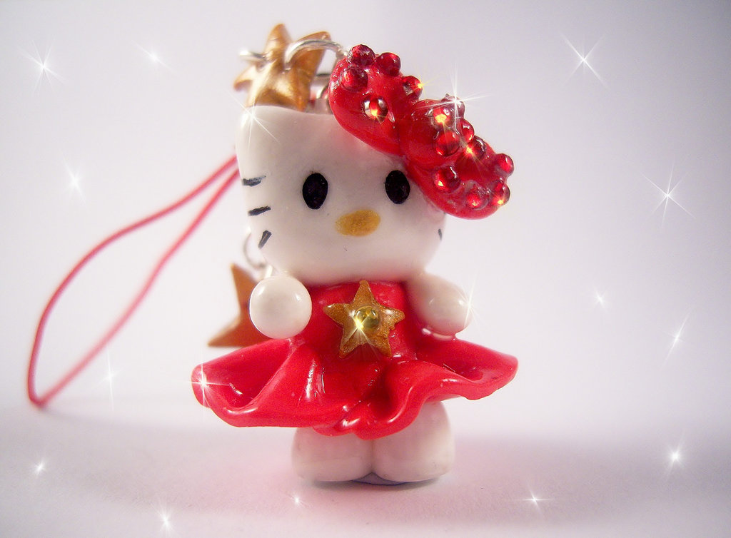Red Hello Kitty Charm by SofeSmity