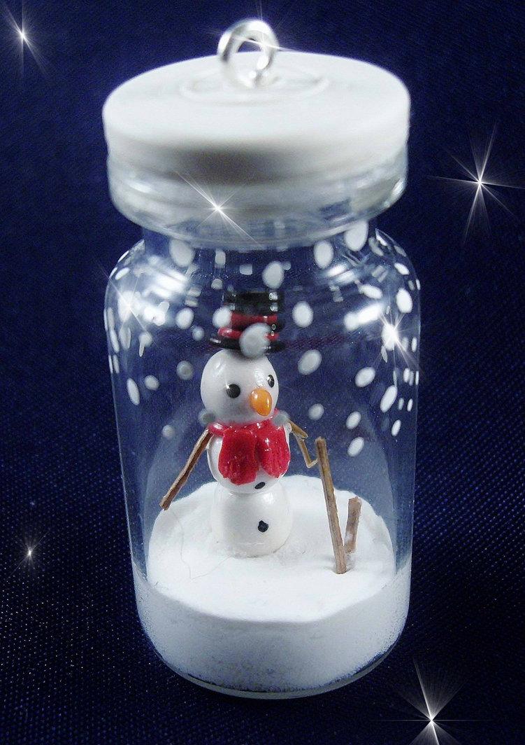 Snowman in a bottle by SofeSmity
