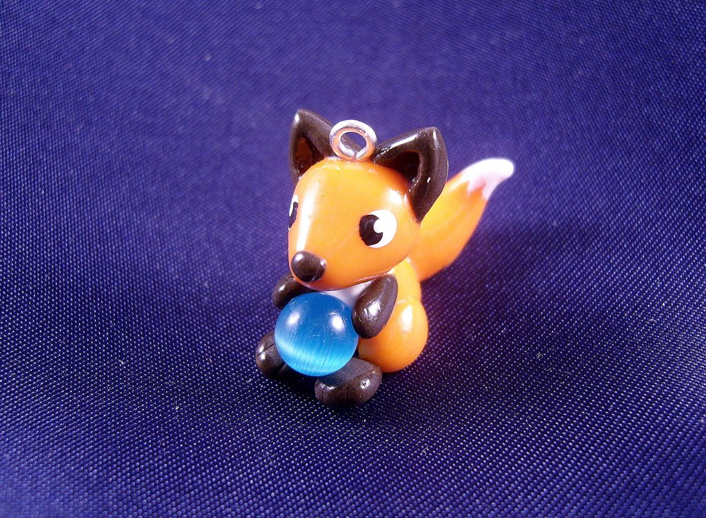 Cat Eye Fox Charm by SofeSmity