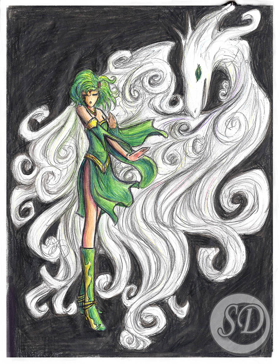 Rydia... and Mist... Of course... by SolitaryDreamer