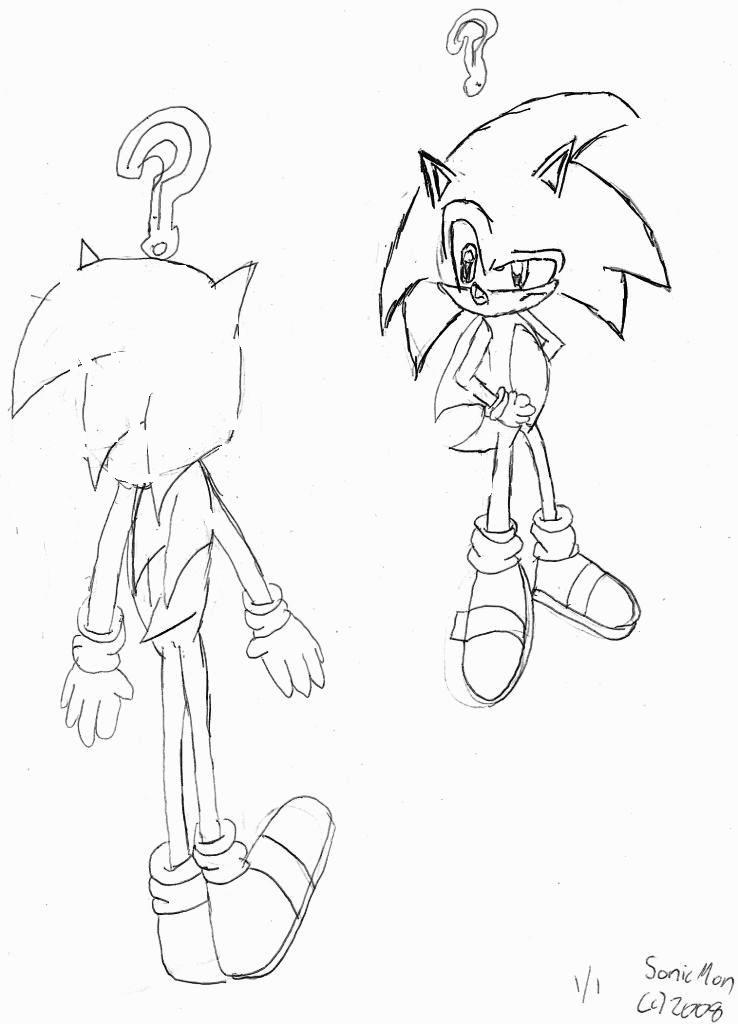 Sonic X VS Normal Sonic by SonicMon