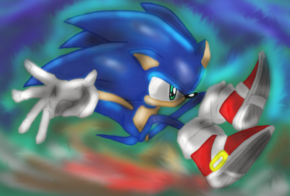 Sonic Leap (Colored) by Sonicluva