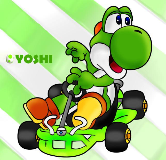 Go-Kart Yoshi by Sonicluva