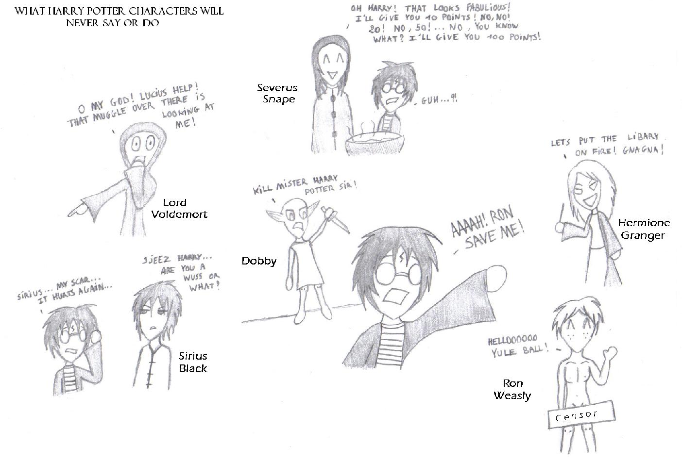 !What HP Characs Will Never Say Or Do! by Sora_Miyara