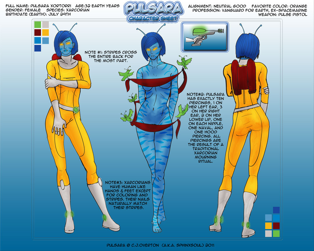 Pulsara Character Sheet by Sphinxsoul