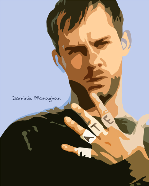 Dominic Monaghan in Vector by SpiritWolf77