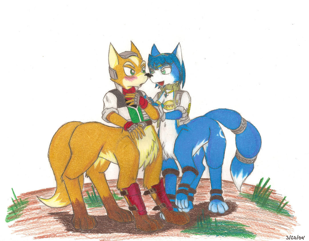 Fox and Krystal as Taurs by StarFoxSaiyan