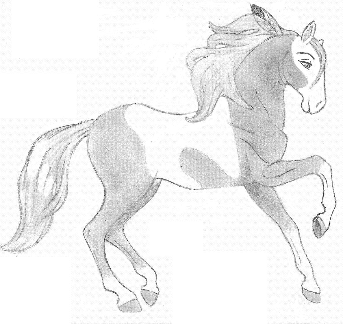 Cartoon Horses: Rain by SteveBuscemiObsessy