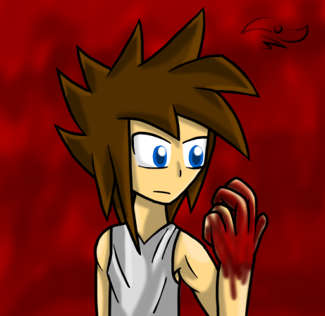 FAC StickBlue, Bloody Hand by StickBlueAnimated