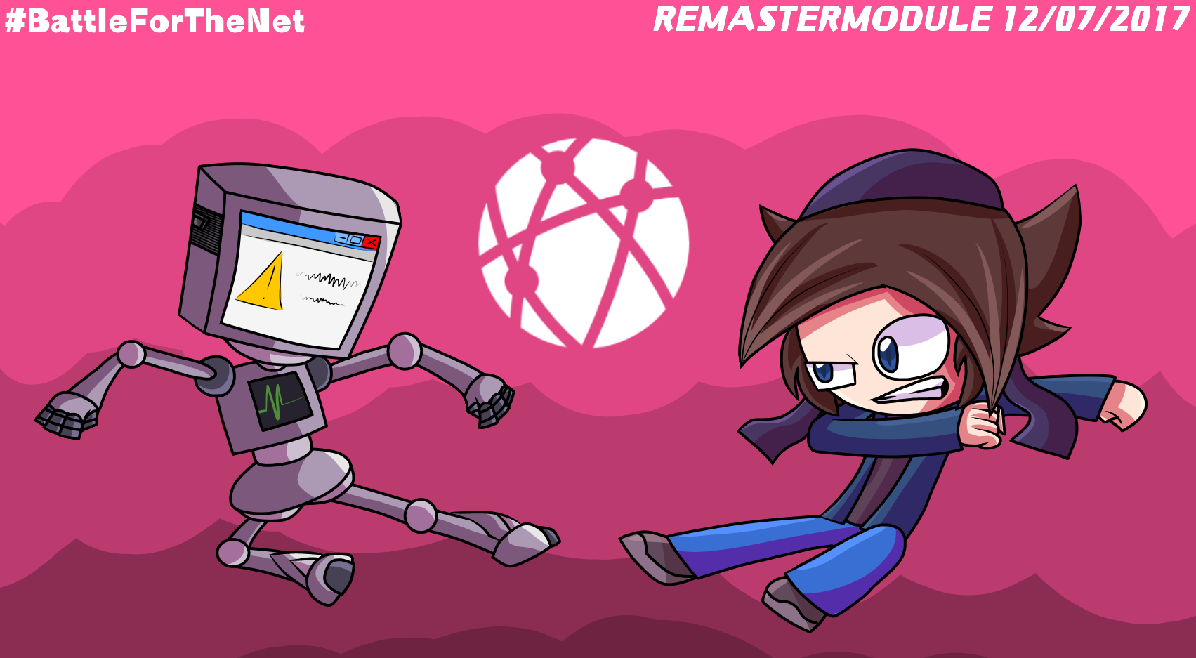 Computerbot Versus. StickBlue - Battle For The Net by StickBlueAnimated