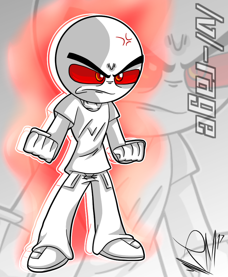 /v/-rage fanart by StickBlueAnimated