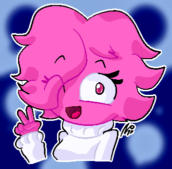 Pink Girl! (wafflez) by StickBlueAnimated