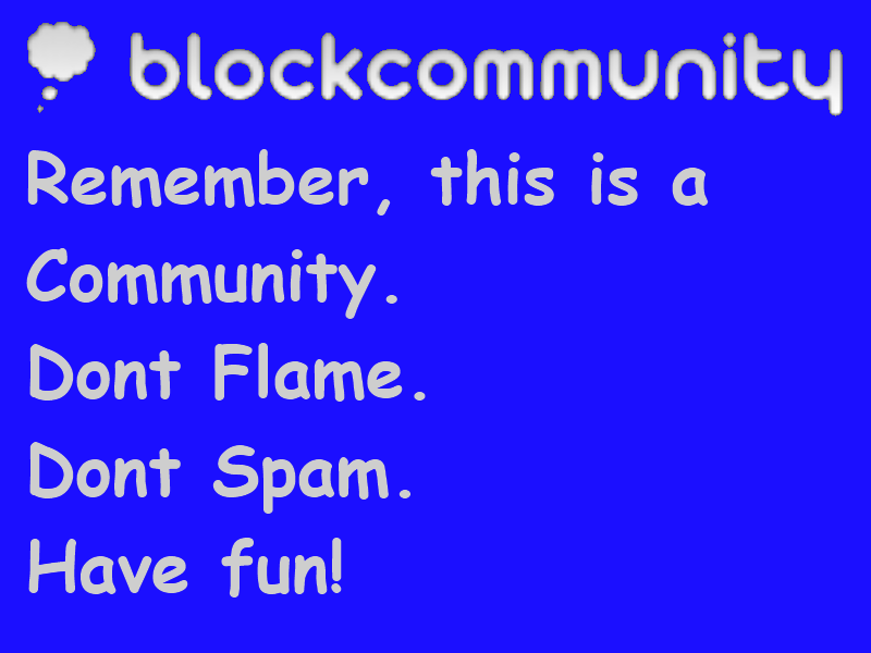 BlockCommunity, It's a community! by StrangeEnd