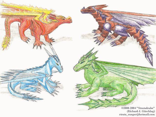 Dragons of Elements, v2.0 - #1 (2000) by Stratadrake
