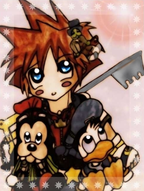 Sora, Donald and Goofy Chibis ^^ by Strohhut-Ruffy