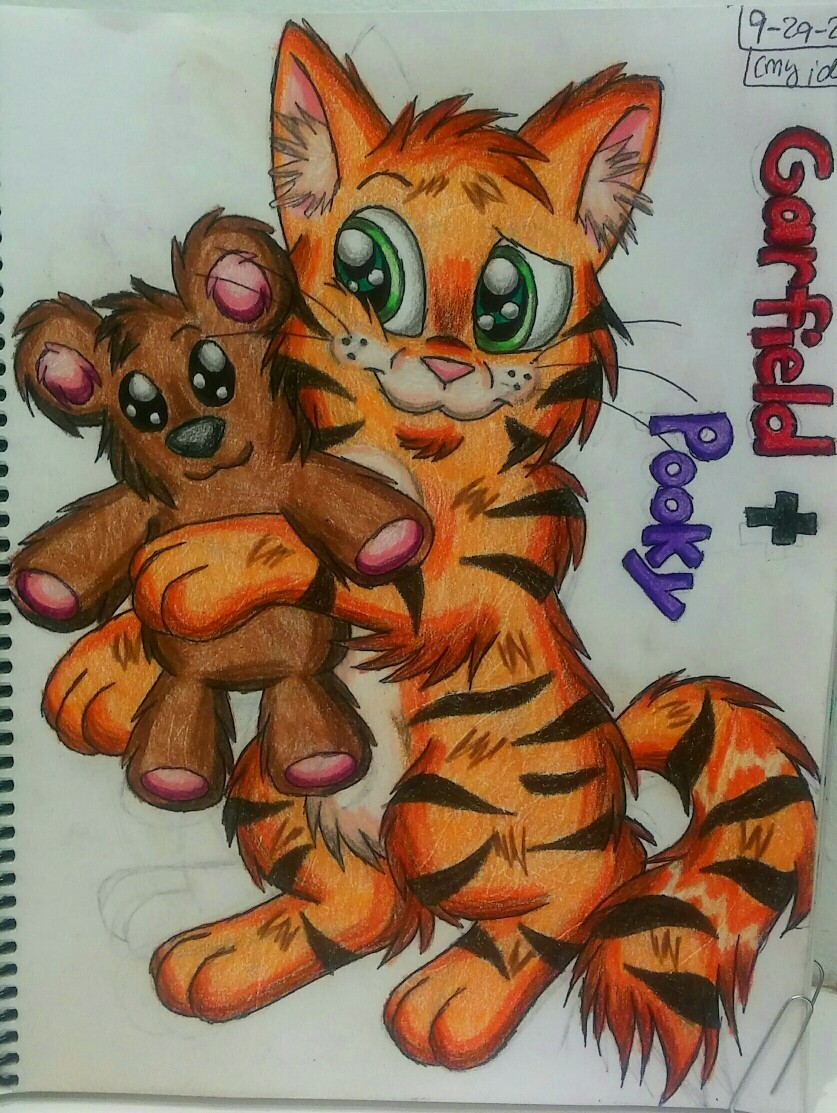 Garfield and Pooky by SugarPop
