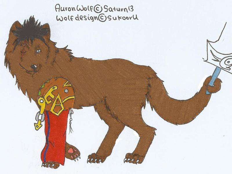 Auron wolf (adopted by Saturn13) by Sukooru