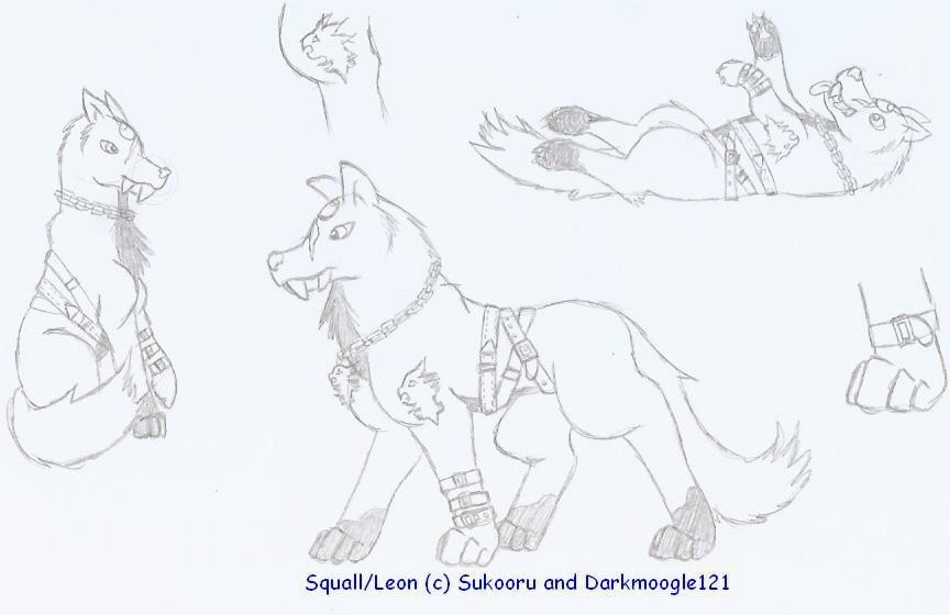 Leon/Squall Zeon doodles by Sukooru