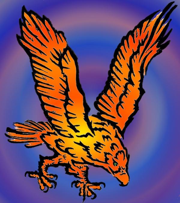 Orange Eagle by SunStorm