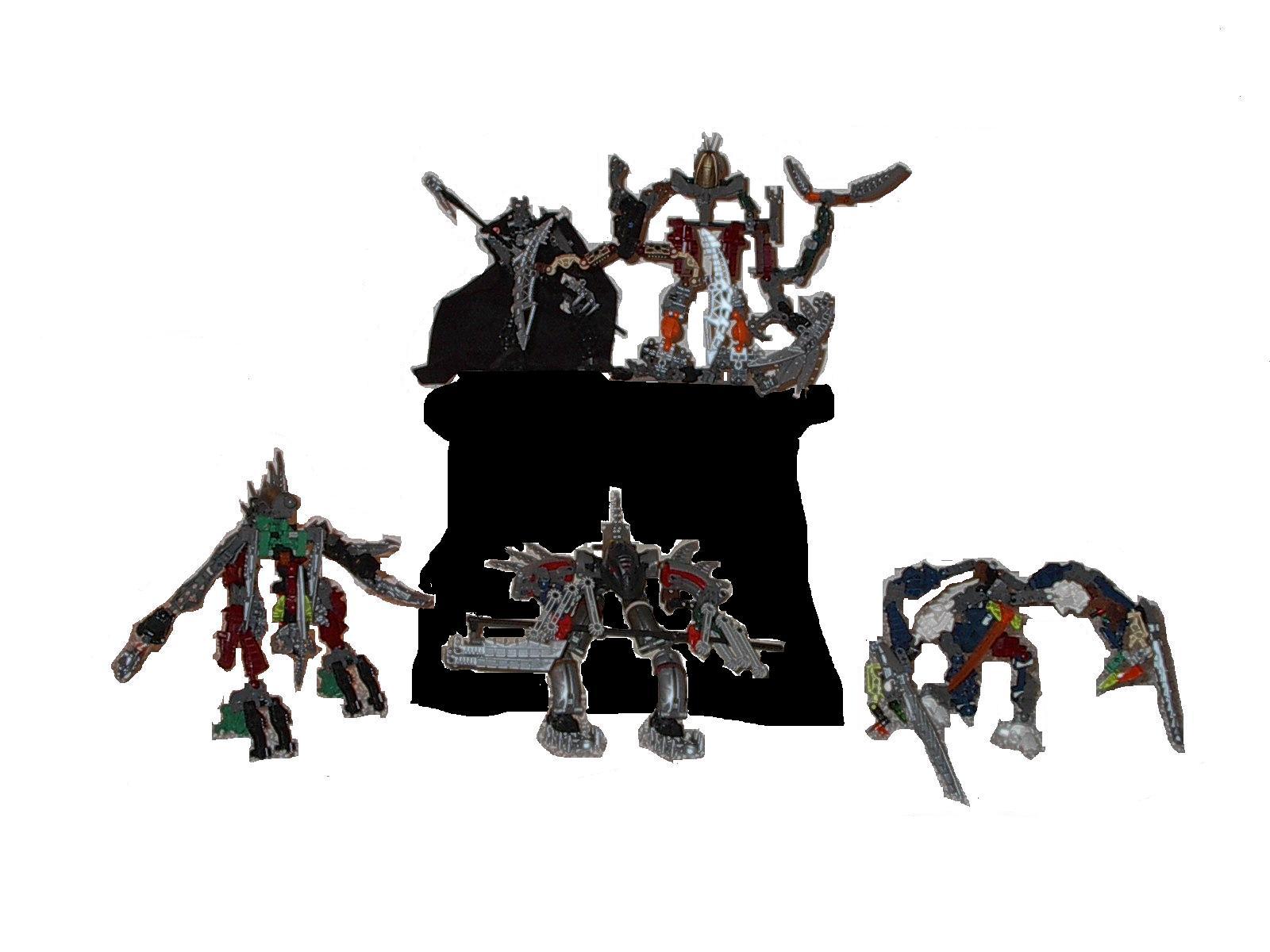 my bionicles by Suukorak