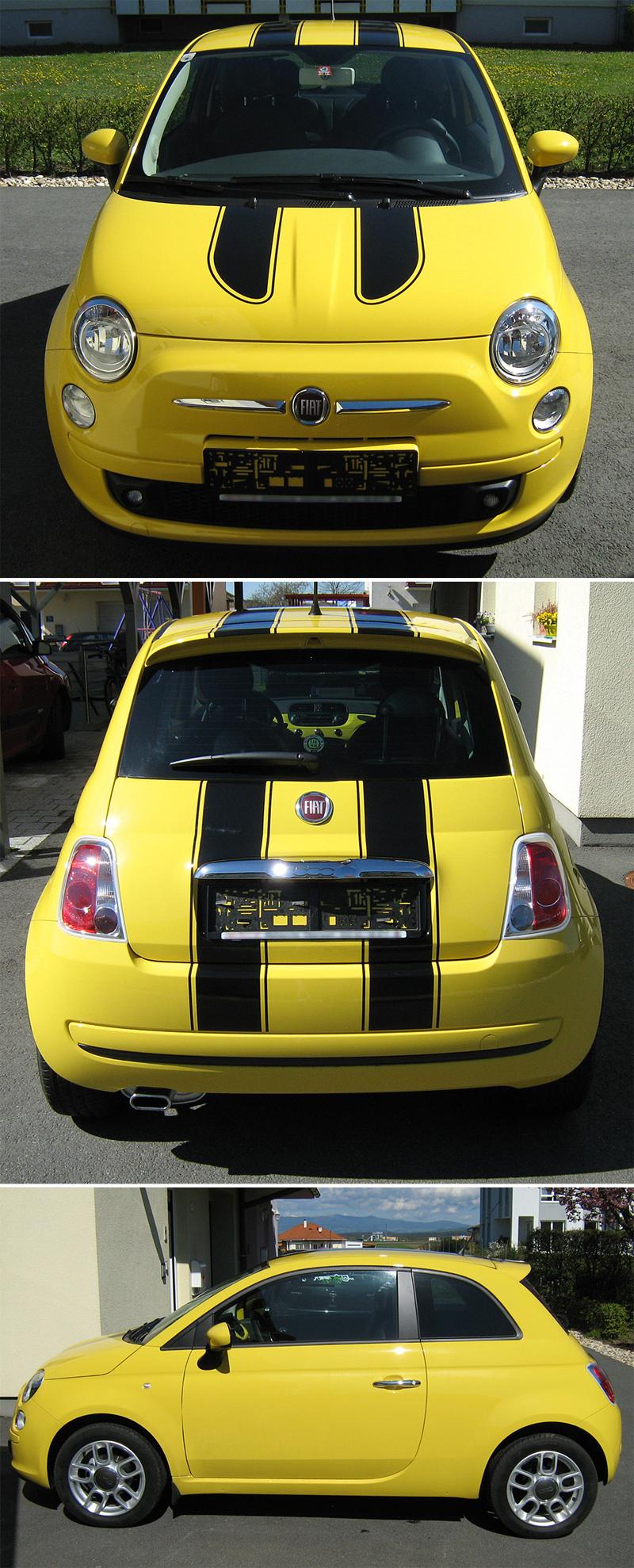 Fiat 500 - Custom Decals by SuziDragonlady
