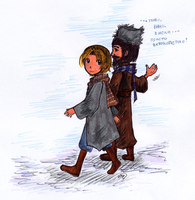 Walking in the Snow by Suzume