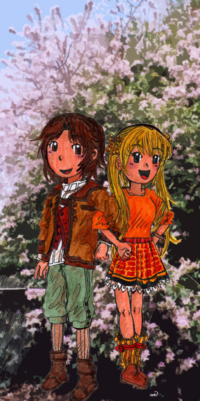 Young Couple by Suzume