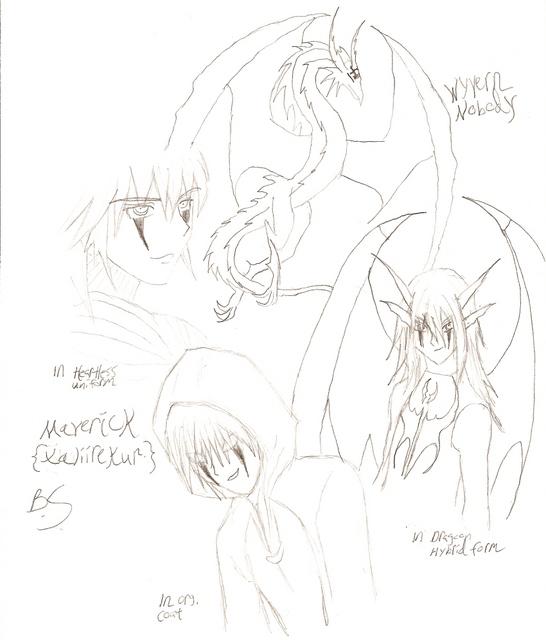 Xaliirekur\Wyvern nobody sketches by SweetxinsanityxSarah